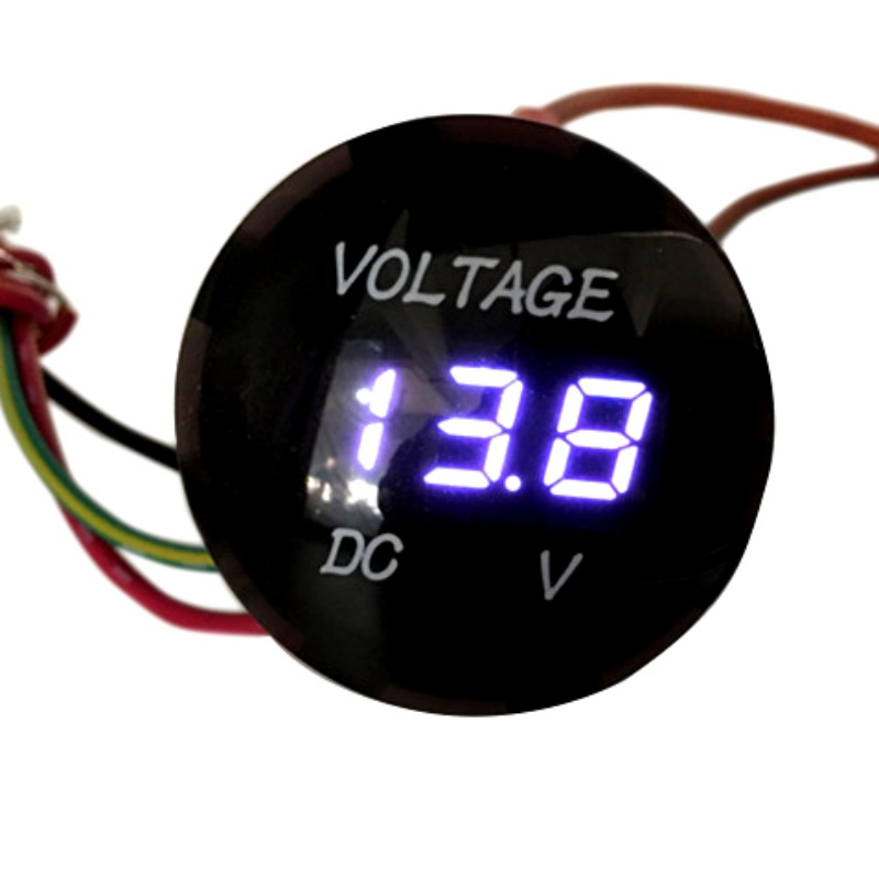 Vendita calda di alta qualità universale voltmetro misuratore di tensione impermeabile voltmetro digitale calibro LED rosso per DC 12V-24V per auto moto