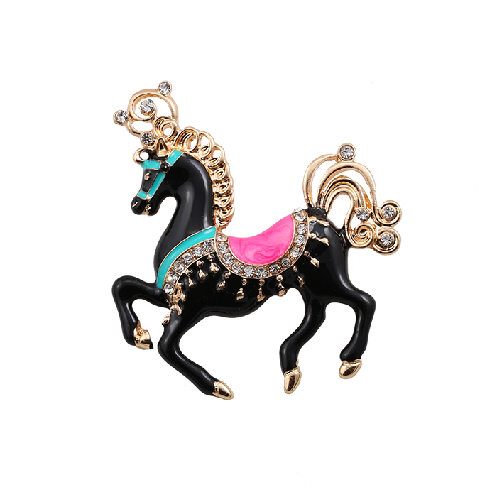 Daisies Women Personality Statement Jewelry Scarf Running Horse Brooches Pin Dress Decoration Animal Shape Clothes Accessories