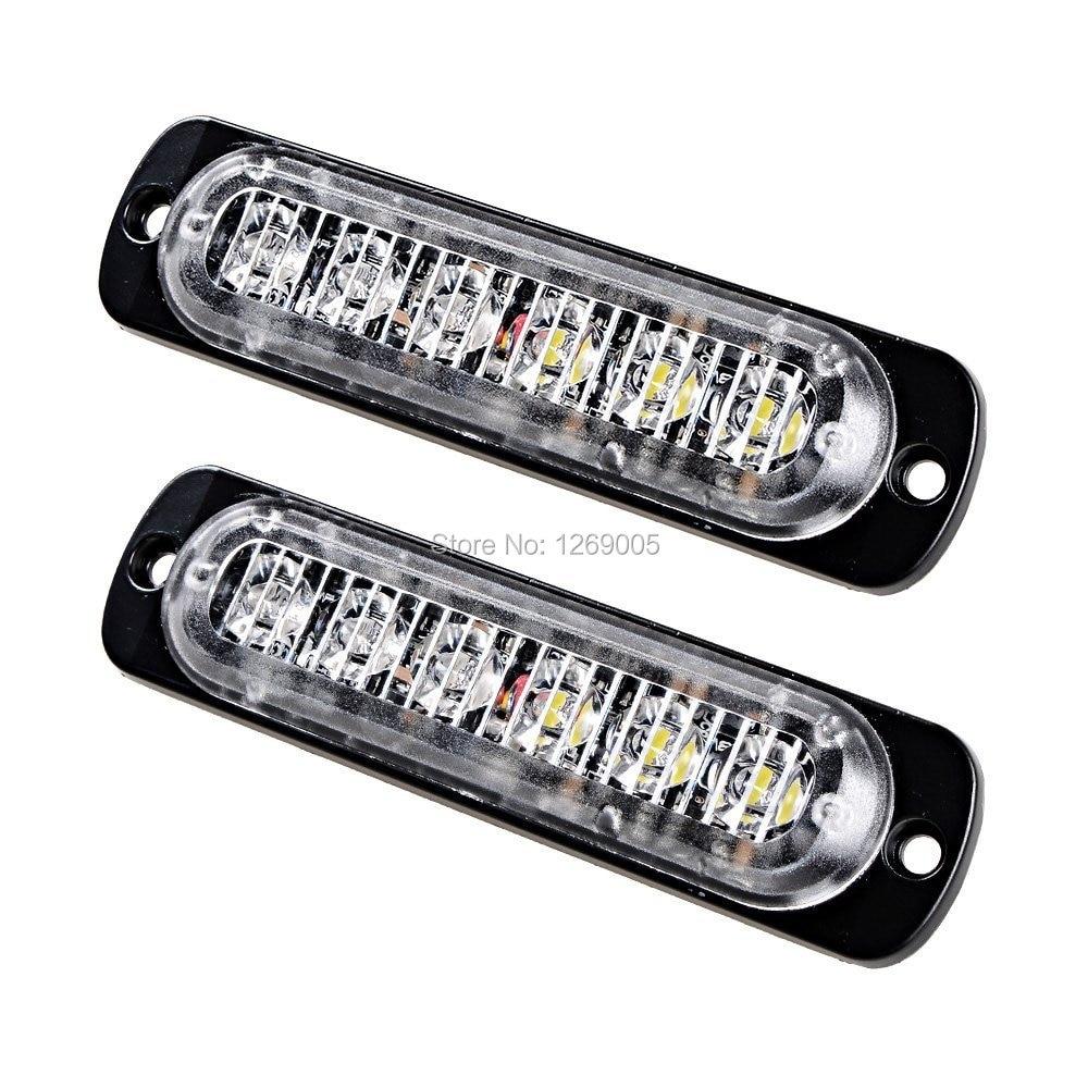 2ks bílé jantarové četa auto Inženýrská ambulance Externí vůdčí styling LED Strobe Emergency Warning Light