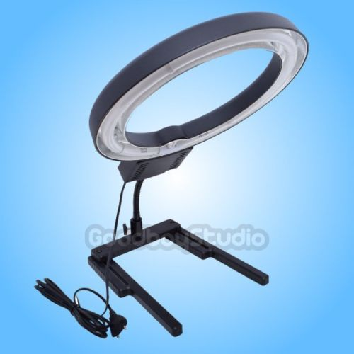 Studio 40W 5400K Photo Diva Ring Light + Flexible Table Top Base Stand fr Photography Phone Camera Video Photo Selfie 220V~240V