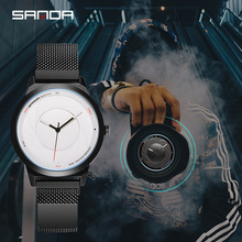 Sanda Creative New Concept Optical Watch Wormhole Men and Women Couple Students Korean Version of The Simple Fashion