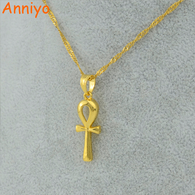 Anniyo wholesale bulk ankh pendant necklace gold color egyptian anniyo wholesale bulk ankh pendant necklace gold color egyptian cross jewelry women fashion egypt hieroglyphs aloadofball Choice Image