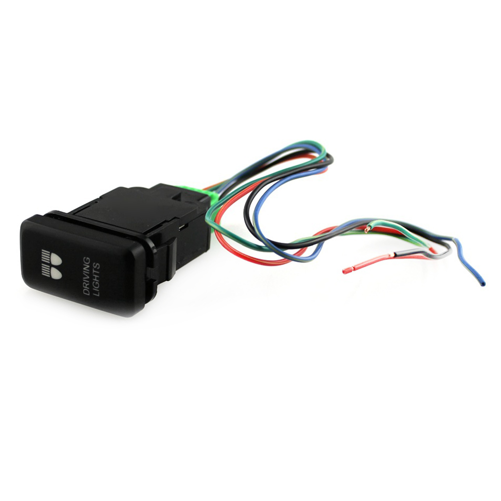 hight resolution of double blue dc 12 v 40a wiring harness loom relay switch vigo led light bar spot light for toyota