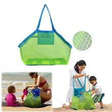 Foldable Beach Mesh Storage Bag Reusable Sand Toy Bag Portable Storage for Outdoor Beach Park Swimming Toys Towels Groceries(China)