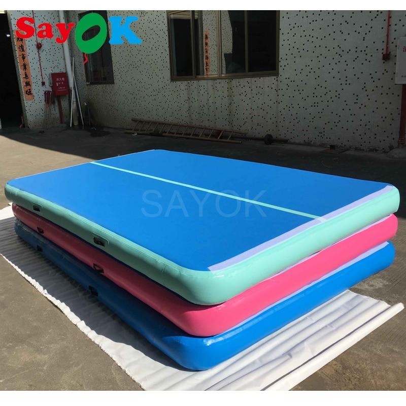300cmx200cmx20cm Cheap Inflatable Air Track Floor Home Gymnastic Cheerleading Tumbling Mat GYM economic newly design 2 4mx1 2mx3cm cheap gymnastic mats