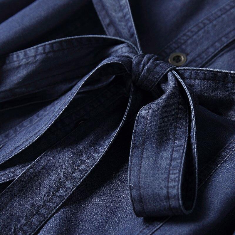 See Costumes Larges Femmes Jambes Rmojul 2019 En Printemps Famille Vêtements Chart Tempérament Mode Nouvelles À Chemise Denim De Tencel Pantalon pxqUCAw