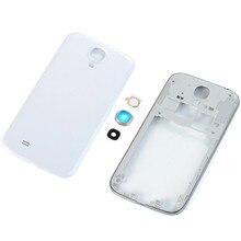 ea7aedf675f 100% Original nuevo frontal marco bisel para Samsung Galaxy S4 mini GT-I9195  i9190 placa marco medio de la placa frontal piezas .