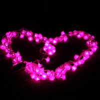 Holiday lights waterproof outdoor LED lights flashing LED twinkle light rose propose romantic birthday party Wedding 10M