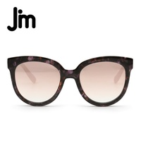 JM Vintage Retro Brand Design Sunglasses Women Butterfly Elegant Shield Floral Frame Gradient Mirrored Lens Fashion Sun Glasses