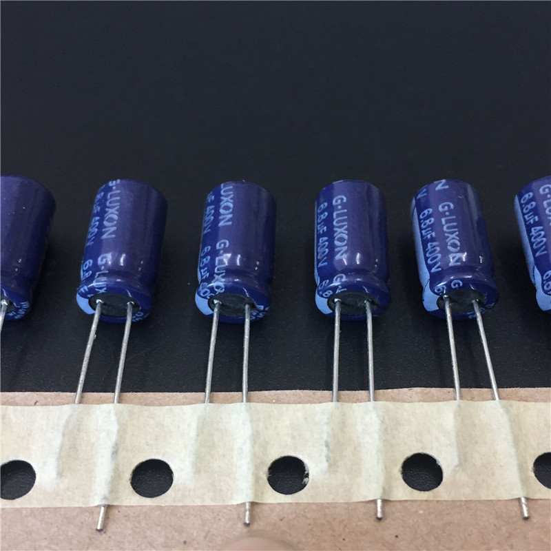 10pcs 6.8uF 400V G-LUXON GR Series 8x14mm High Quality 400V6.8uF Aluminum Electrolytic Capacitor