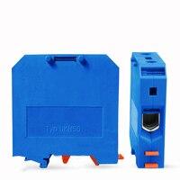 Wire Terminal Block 10pcs 50pcs 100pcs Blue UK50N Din Rail Electrical Conductor Terminal Block Cable