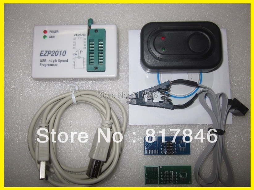 Free shipping EZP2010 Programmer High-Speed USB SPI Programmer support 24 25 93 EEPROM flash bios chip+SOIC8 Clip high speed usb recorder spi iic spiflash burner eeprom writer
