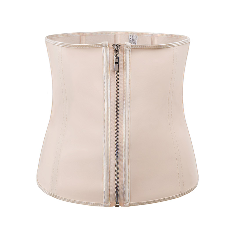 Corset Body Shaper Latex Waist Trainer Zipper Underbust Slim Shapewear