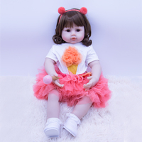 High end bebe girl reborn baby dolls 58 cm soft silicoen reborn babies doll toy DOLLMAI original design children Clothing photo
