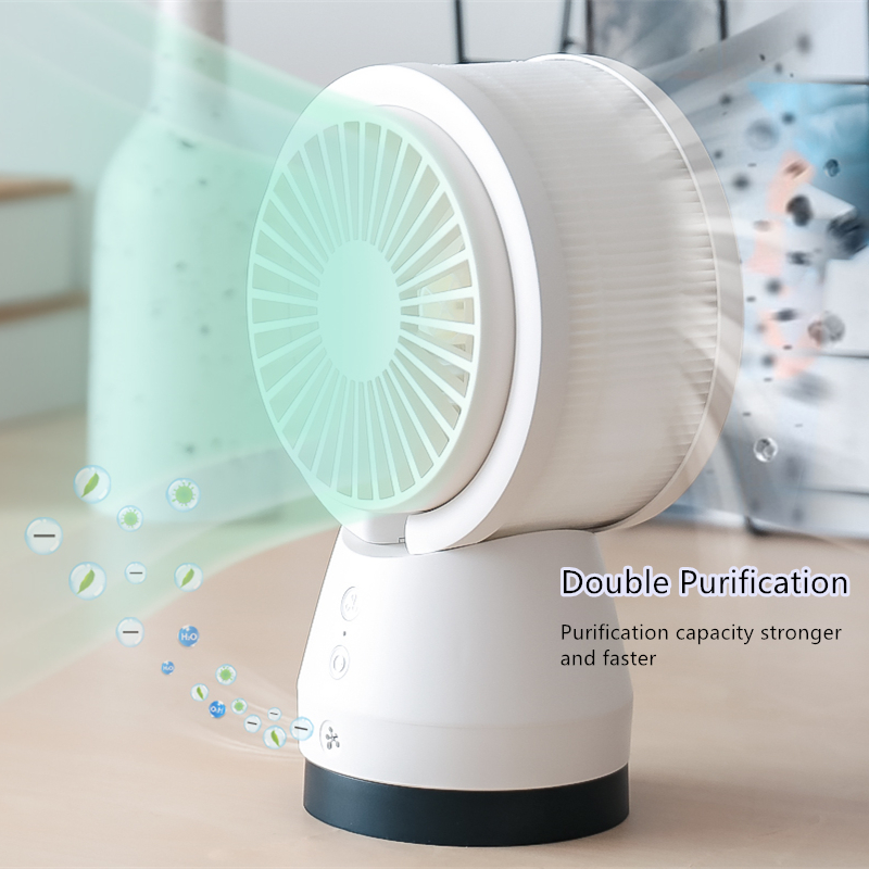 Dual Air Purification Air Circulation Decibels Washable Body Swing Adjustment Release Negative Ions Electric Table Cooling Fan|Fans| |  - title=