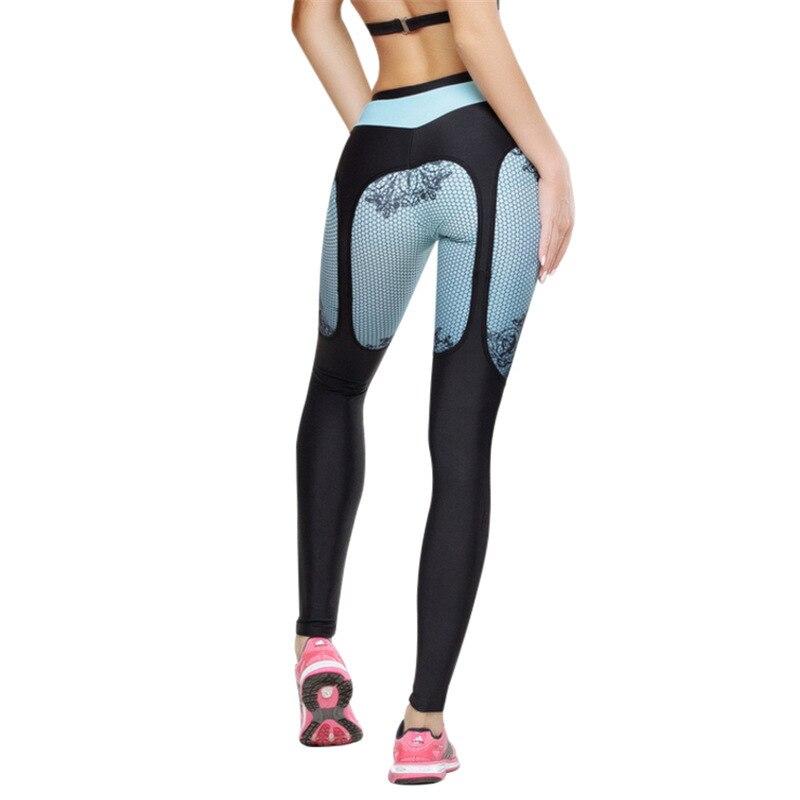 2018 Fitness athleisure women print legging new arrival slim splice black long legging clothes ladieswear sporting legging