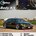 Bumper Lip Deflector Lips For Lexus GS 250 300 350 400 430 450h For TOYOTA Aristo Front Spoiler Skirt / Body Kit / Strip