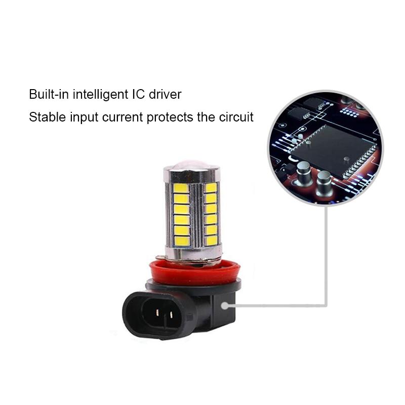 BOAOSI 2x H11 LED canbus 5630 ampüller FORD MONDEO MK3 MK4 C-MAX - Avtomobil işıqları - Fotoqrafiya 3