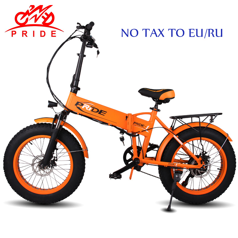 цена на PRIDE Electric bike 48V12A Electric Fat Tire bike 20Aluminum Folding350W 6Speed electric Bicycle Mountain ebike NO TAX TO EU/RU