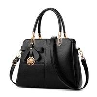 2017 New Bow Handbags Women Shoulder Bag Ladies Tote Shopping Bags Womens OL Handbag Femme Sac