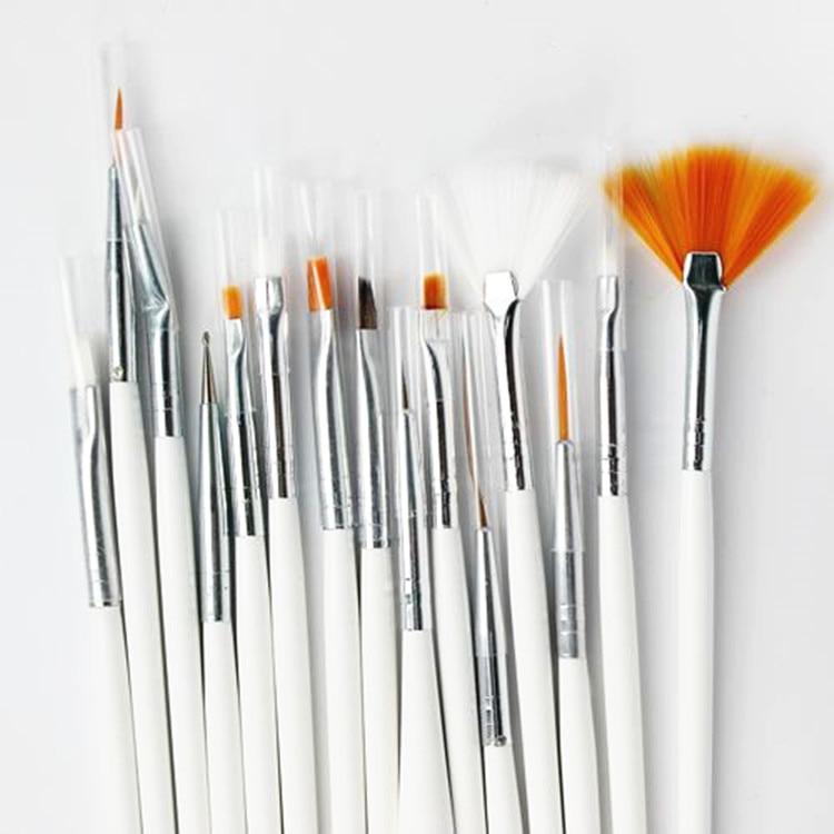 15st Akvarellborste Aquarellefärg Trähandtag Dragkrok Line Pen Nail - Konst, hantverk och sömnad - Foto 4