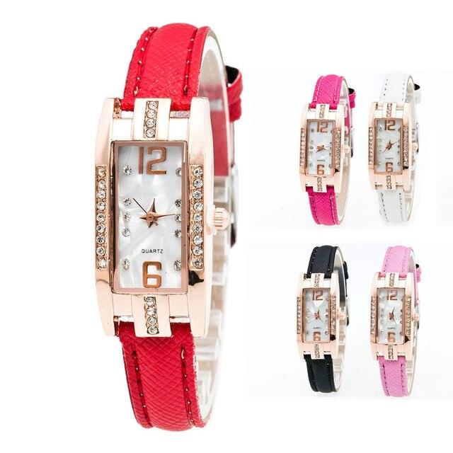 Women's Pointer Quartz Watch Simple Style Bracelet Watch Women Ladies Wrist Wome