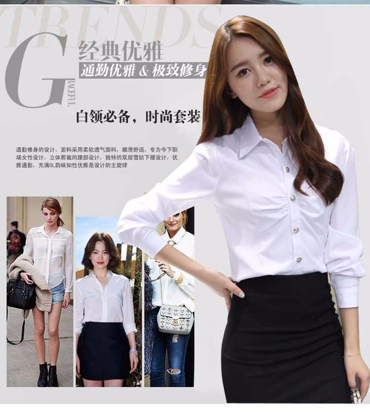HTB1qroMLXXXXXcjXXXXq6xXFXXXC - Casual Blouse Long Sleeve Femininas Ladies Work Wear Tops Shirt