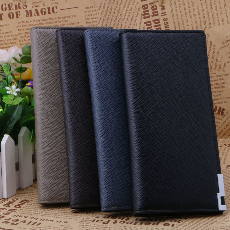 THINKTHENDO Mens Long Leather Slim Wallet Business Bifold Clutch Purse Credit ID Card Holder Friends Gift