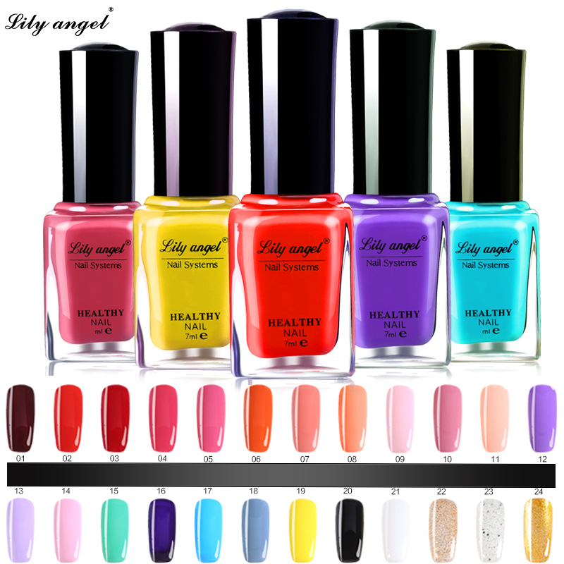 Lily ängel 48 färger Färgglada 7ml Nagellack Gel Paint Skala av vattenbaserade naglar Art Lim Quick Drying Beauty Tools
