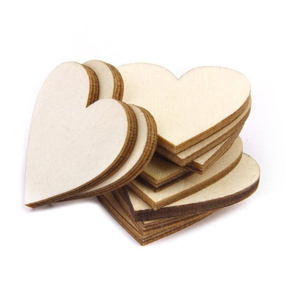 10 шт. 80 мм 3,14 дюймов деревянные ломтики сердца деревянные украшения для сердца свадебные ремесла художественное изготовление