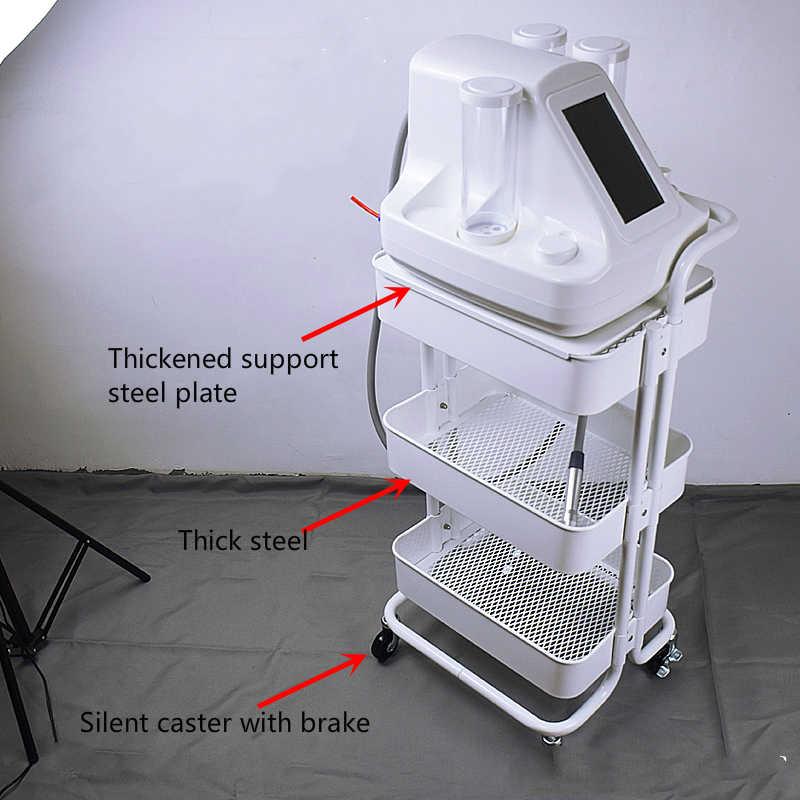 Carro de salón de belleza de acero multifunción carrito de servicio instrumento resistente al agua carrito deslizable con mango reforzado estante de almacenamiento