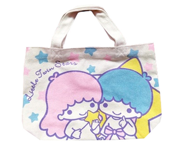 Cute Cartoon Little Twin Stars My Melody Canvas Tote Bag Handbag Small Lunch  Bag for Girls Kids School Women Picnic Food Bags 58ff42ee9e8f6