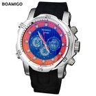 <+>  часы мужчины люкс Man спортивная мода повседневная часы Кварцевые цифровые аналоговые наручные часы  ✔