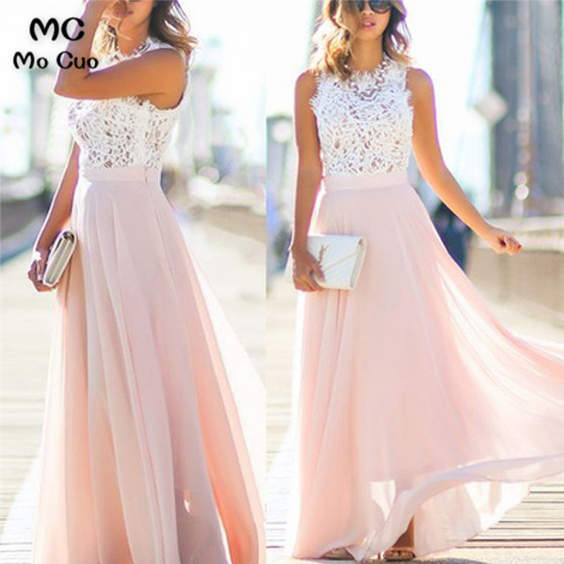 2019 Blush Pink Bridesmaid Dresses Long With Appliques Lace Formal Wedding Party Dress Tulle Women Bridesmaid Dress