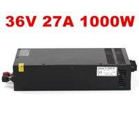 1 шт. 36 V 27.5A 1000 W импульсный источник Питание е байка 36В 27.5A драйвер для камеры видеонаблюдения Светодиодные ленты AC DC е байка 36В Питание S 1000 36