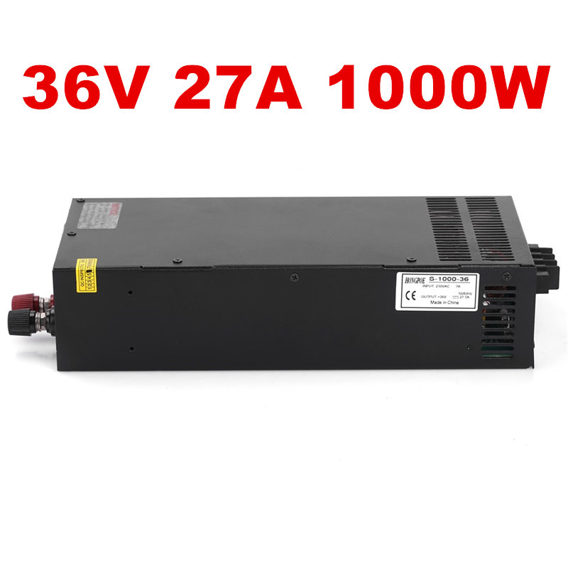 1PCS 36V 27.5A 1000W Switching Power Supply 36V 27.5A Driver for CCTV camera LED Strip AC-DC 36V Power Supply S-1000-36