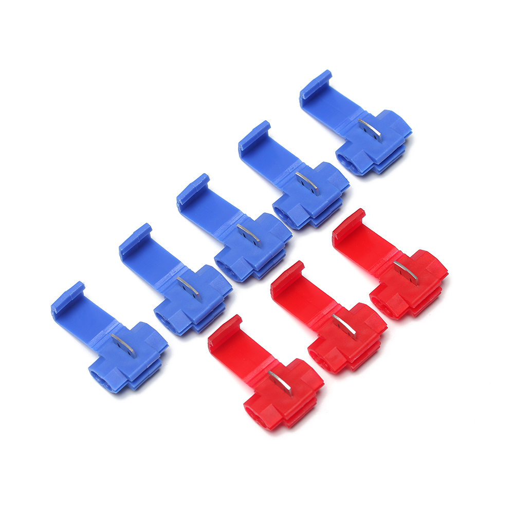 20/50Pcs Fast Quick Scotch Lock Wire Cable Clamp Terminal Spade Back Crimp Insulated Terminals Connector Electrical Supplies