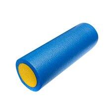 JHO-GRID FOAM MASSAGE ROLLER 45cm FITNESS REHAB INJURY PILATES YOGA EXERCISE -Blue & Yellow