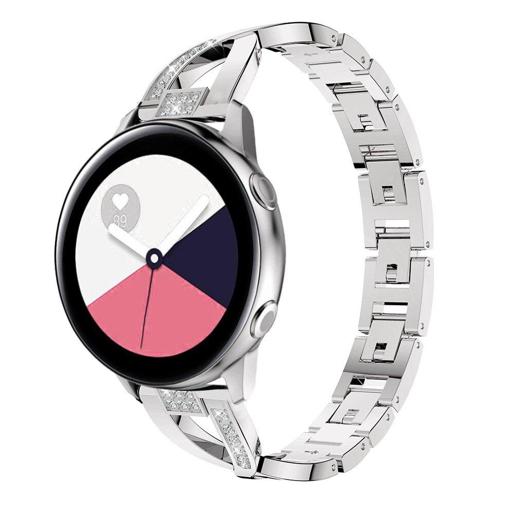 Ремешок для часов Samsung Galaxy Watch Active 2 1, металлический браслет с бриллиантом 40 мм 44 мм для Galaxy Watch 46 мм/42 мм