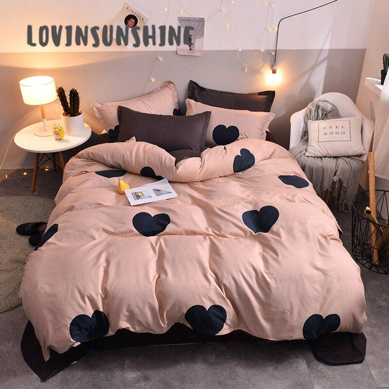 LOVINSUNSHINE Cover Comforter Bedding-Sets Duvet-Queen Bed Quilt AB 4pcs 42 Home-Textile