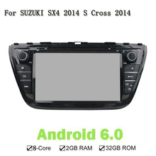 8 Core Android 6.0 2 Din ROM 32G RAM 2G Car DVD Player GPS Navigation Stereo Unit In Dash For SUZUKI SX4 2014 S Cross 2014