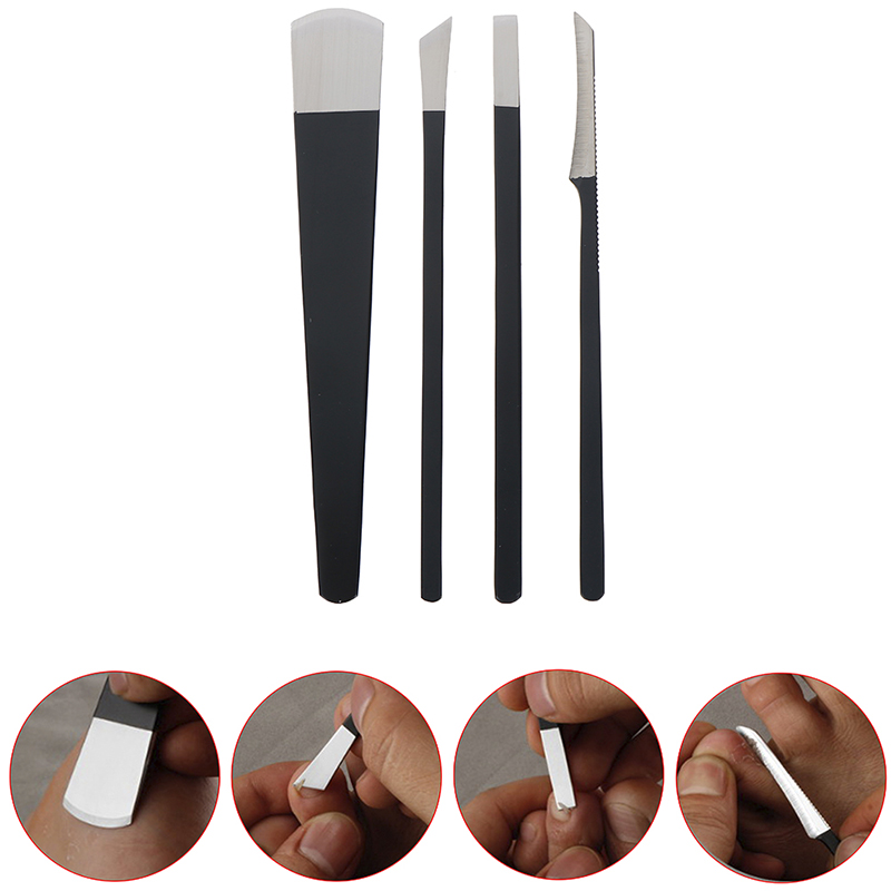 1pc Black Stainless Steel Pedicure Knife Professional Pedicure Knife Set Foot Care Tool Nail Tool Kit 16cm/6.3in