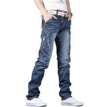 Самых продаваемых мужские джинсы брюки прямые брюки джинсы классические мужские джинсы брюки синий размер 28-34