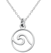 Senfai Simple And Gentle Sea Wave Pendant Necklace , Brilliant Stainless Steel Necklace Chain ,Charming Women Jewelry