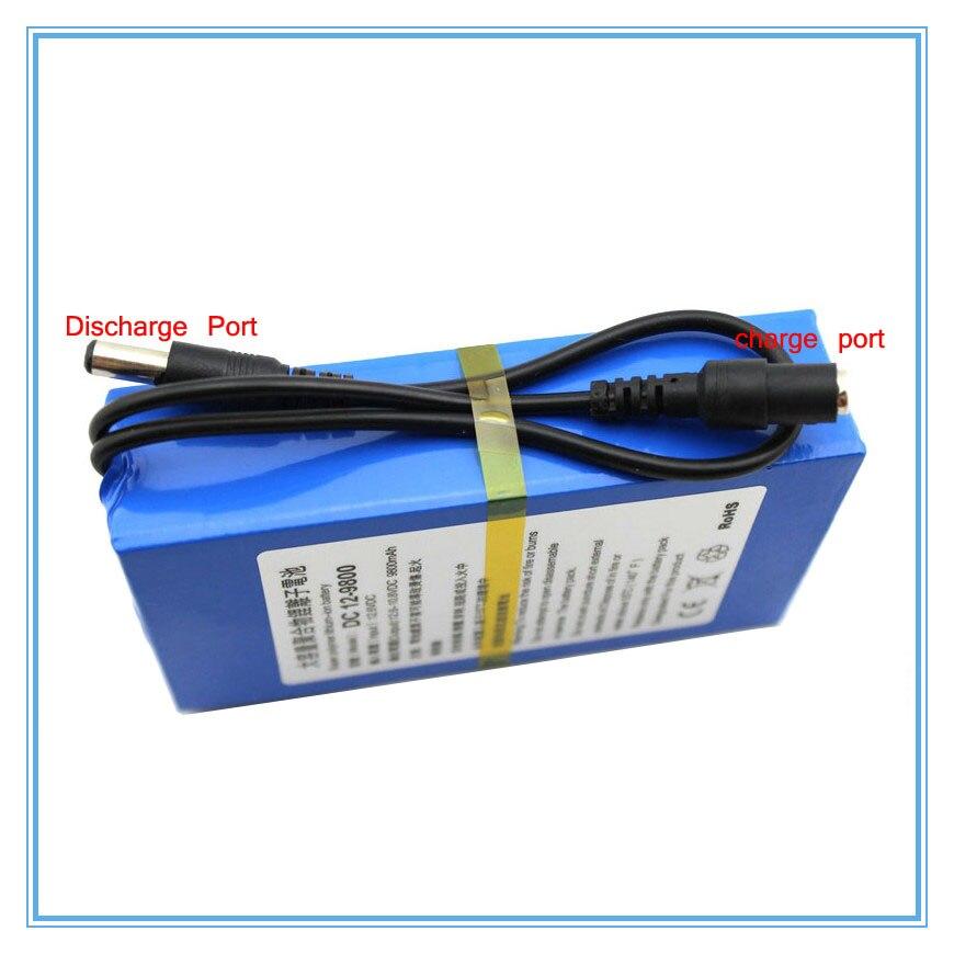 20 PCS/LOT DC 12 V 9800 mAh haute capacité 12.6 V li-polymère batterie pour transmetteur sans fil CCTV caméra avec chargeur