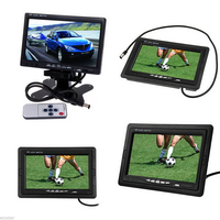 7 TFT Color LCD 2 Video Input Car Monitor 7 RearView Headrest DVD VCR Monitor For