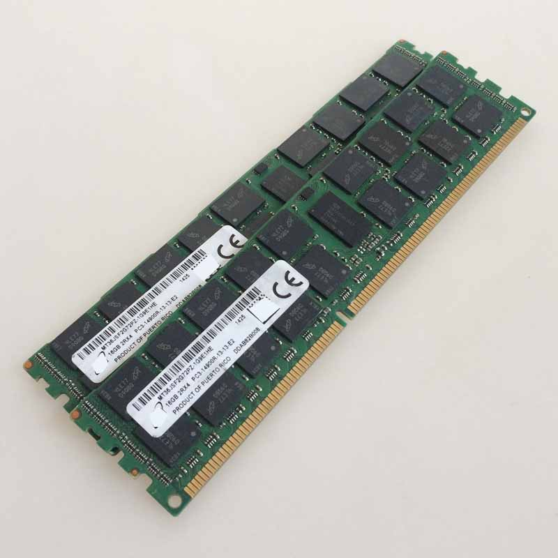 2x16GB PC3-14900R DDR3 1866mhz ECC Memory REG Registered 240-pin RAM 2RX4 server memory jzl memoria pc3 10600 ddr3 1333mhz pc3 10600 ddr 3 1333 mhz 8gb lc9 240 pin desktop pc computer dimm memory ram for amd cpu