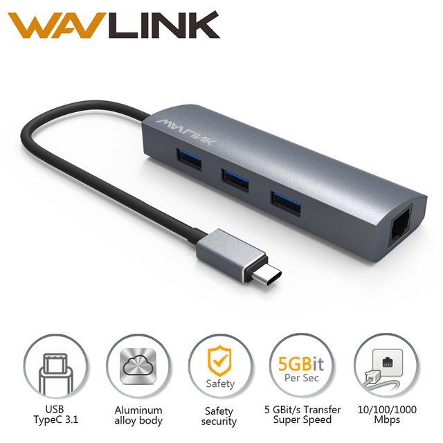 Wavlink USB C To Gigabit Adapter Series Port USB Aluminum - Port usb c