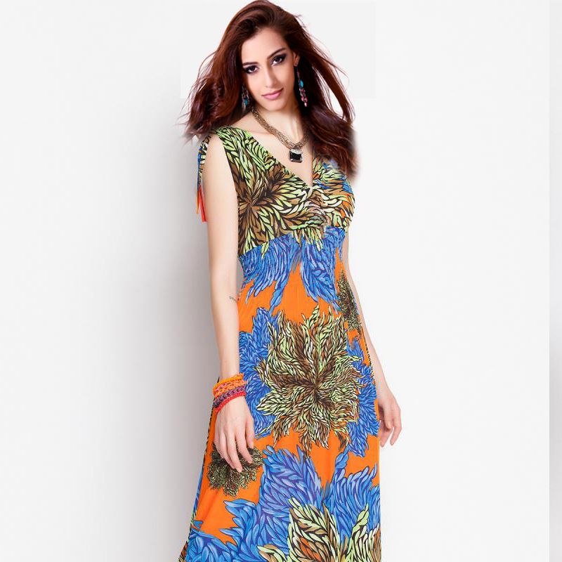 Summer Dress desigual vestidos de fiesta largos elegantes 2016 women ... 99a96c91240d