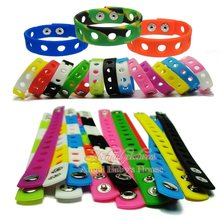 Free DHL/EMS 300PCS 21CM or 18CM Mixed 14 Colors Silicone Wristbands Soft Bracelets Bands for Shoe Charms Croc,Party Supplies(China)